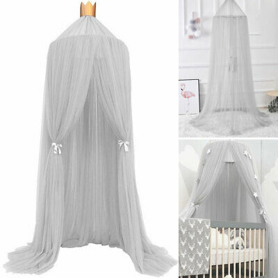 Round Lace Dome Baby Infant Mosquito Net Toddler Bed Crib Canopy Netting Tent