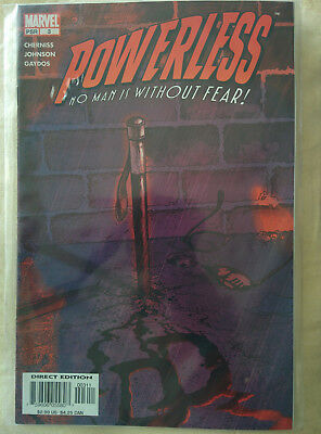 """Powerless #3 """"No Man Is Without Fear"""" Marvel Comics"""