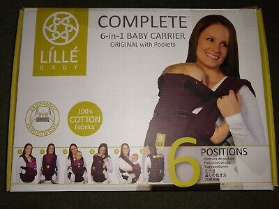Lillebaby Complete 6 In 1 Carrier Original With Pockets Black