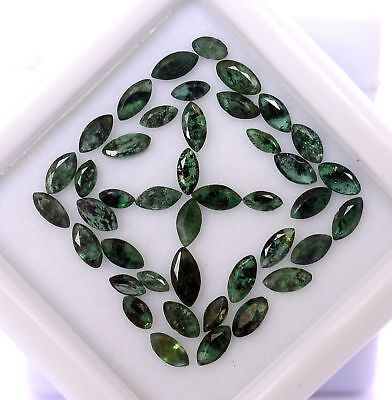 Natural Emerald Marquise Cut Mix mm 5.89 Cts Lot 42 Pcs Untreated Loose Gemstone
