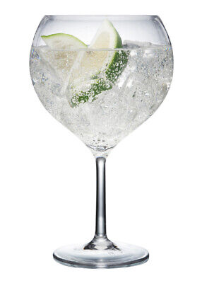 Plastic Gin Glasses – Polycarbonate - Pack of 2   Reuse 1000's of times