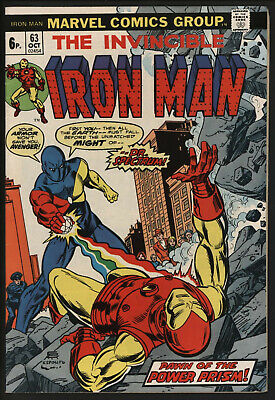 Iron Man #63 Oct 1973 Vs Dr. Spectrum. Nice Pages