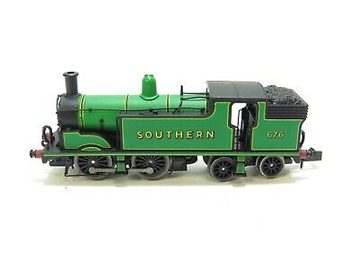 """Dapol N Gauge Class M7 0-4-4-0 Southern Green """"676"""" Steam Locomotive - Unboxed"""