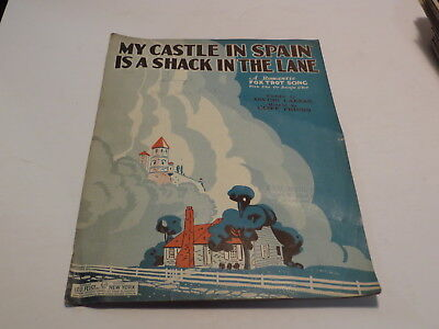 :) Vintage My Castle In Spain Is A Shack In The Lane 1929 Sheet Music > :)