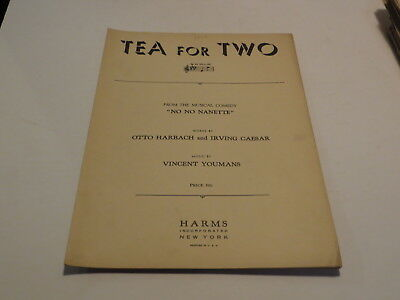 :) Vintage Tea For Two Otto Harbach - 1924 Sheet Music ^ :)
