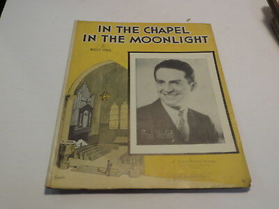:) Vintage In The Chapel In The Moonlight - Billy Hill 1936 Sheet Music > :)