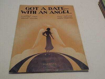 :) Vintage Got A Date With An Angel - Clifford Grey 1932 Sheet Music :)