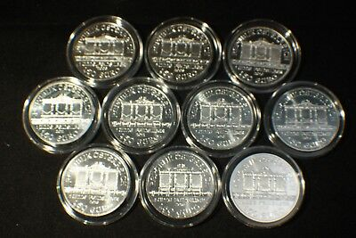 Complete Run of 11 AUSTRIA SILVER PHILHARMONIC 2008-2018 1 OZ COIN BU 1.5 EURO
