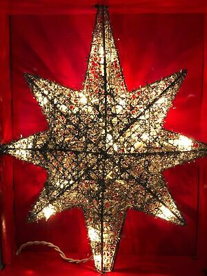 Holiday Time 13.5 in Glitter Wire Thread Sliver Star Tree Topper