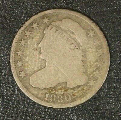 1830 Capped Bust Dime Circulated       ** FREE U.S. SHIPPING **