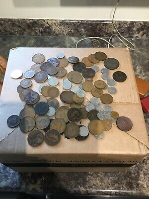 Old Antique ? British Coins Etc Mixed Job Lot Coins 3