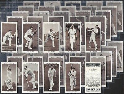Ogdens-Full Set- Prominent Cricket Ers Of 1938 (50 Cards) - Exc+++