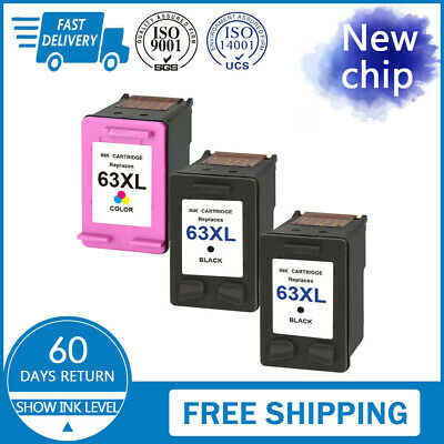 Lot #63 XL 63XL Black /& Color Ink for HP OfficeJet 3830 3833 4650 4652 5258 5255