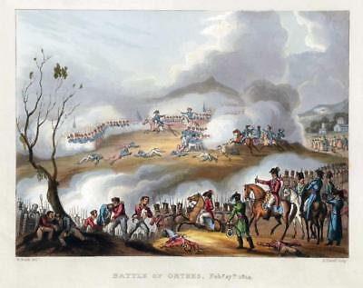 1814 Antique Print - Military FRANCE BATTLE OF ORTHES ORTHEZ Pyrenees War (47)