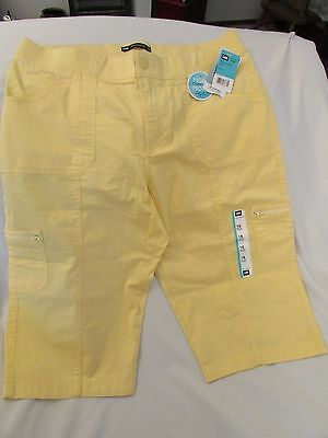 """Ladies """"Lee"""" Size 16M, Lemonade(yellow) Elastic Waist Band, Relaxed Fit, Skimmer"""