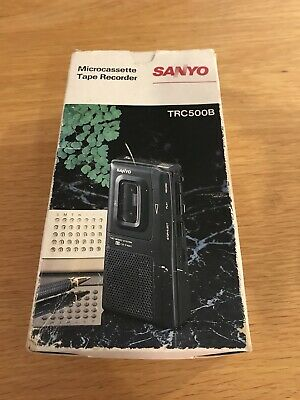 Sanyo Microcassette Tape Recorder TRC500B with Box