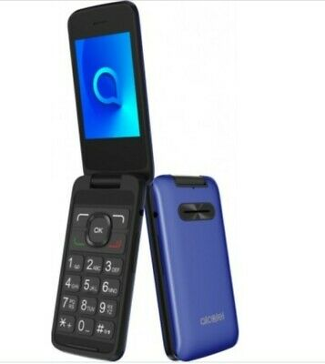 Brand New Alcatel 3025X 2.4inch screen 3G 256MB blue  unlocked with big buttons