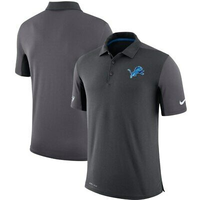 2c04418d DETROIT LIONS NIKE Gray Sideline Team Issue Logo Performance Polo