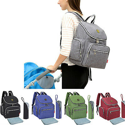 Multi-Function Waterproof Diaper Mummy Bag Travel Backpack Nappy Bags Change Pad