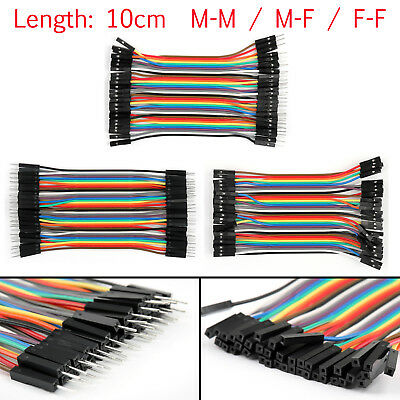 10 x 40Pcs Dupont Wire Jumper Cables 10cm Female To Female 1P-1P For Arduino UE