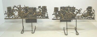 Antique Neo-Classical Bronze or Brass Candle Sconces