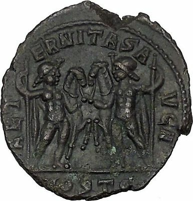 Maxentius Constantine the Great Enemy Ancient Roman Coin Castor & Pollux i44780