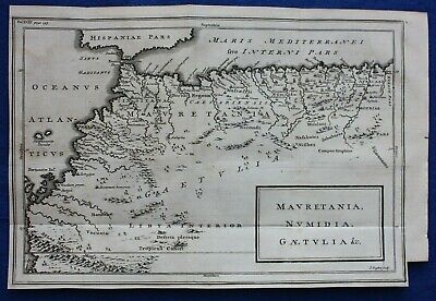 Original antique map NORTH WEST AFRICA, MOROCCO, ATLAS MOUNTAINS, Basire 1748