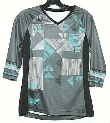 Performance 114541 Mens Bandit Tee MBT Jersey Sz XL Black//Grey NWT 3//4 Sleeve