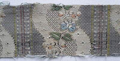 Small fragment 18th c  silk  - Hamot archive collection
