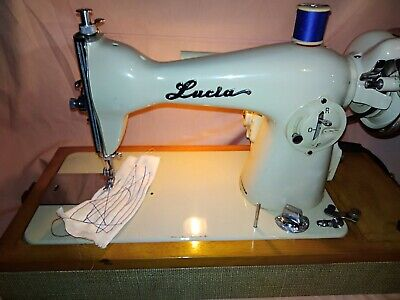 Vintage Lucia straight stitch electric sewing machine, very good condition...