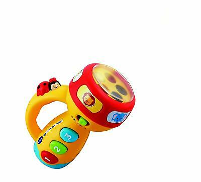 VTECH Spin & Learn Color FLASHLIGHT Talking Toy, Yellow - MINOR BOX DAMAGE