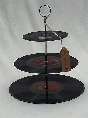 Vintage Vinyl Record Cake Stand - Classical Collection. Unique Gift.