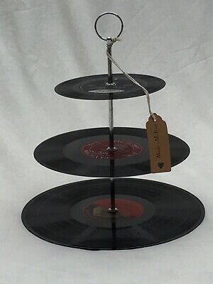 Vinyl Record Cake Stand - Classical Collection. Unique Gift For The Music Lover.