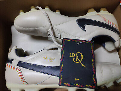 2d2bd5496 Nike Tiempo Legend R10 Ronaldinho White 7.5US BOOTS SOCCER CLEATS FOOTBALL