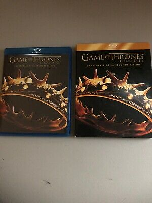 Game of Thrones -Second Season Europe Blu-ray (Zone B ) 2014, 5-Disc Set -French