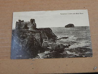 Postcard Tantallon Castle And Bass rock posted 1921  XC4