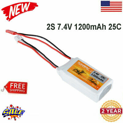 2 Pack 7.4V 1500mAh 35C Lipo RC Deans Battery for RC Car Truck Truggy RC Hobby