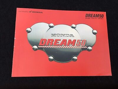 1997 Honda Dream 50 Sales Brochure Cr110 Race Bike Replica