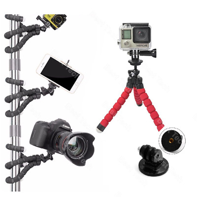 For GoPro HERO7 Silver Action Cam Camera Flexible Tripod Gorilla Mount Stand RED