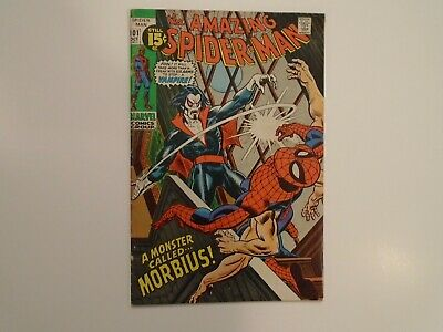 AMAZING SPIDER-MAN #101 High Grade Fine to VF- First Appearance Morbius