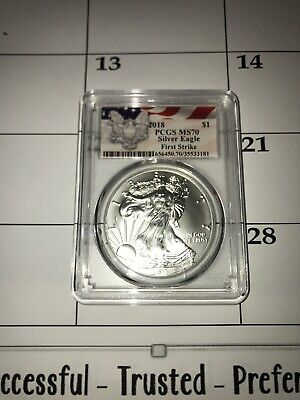 2018 Silver Eagle PCGS MS70 First Strike Eagle Label