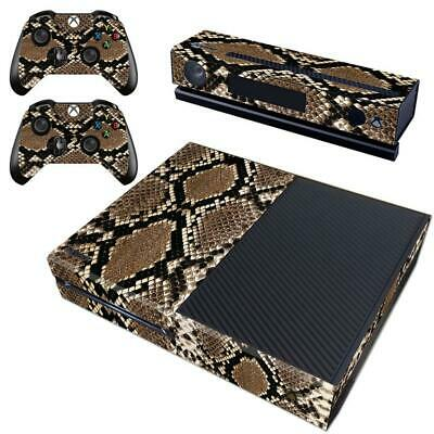 XBOX ONE KINECT Consoles Controllers Python Snake Skin Vinyl Decals  Stickers Set