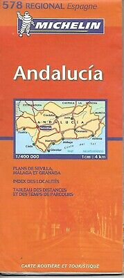 Michelin Map of Southern Spain, Andalucia, Spain, Michelin Map #578 Espagne