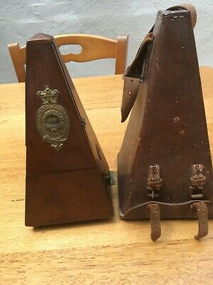 METRONOME DE MAELZEL LONDON (Best English Made) WITH LEATHER CARRY CASE