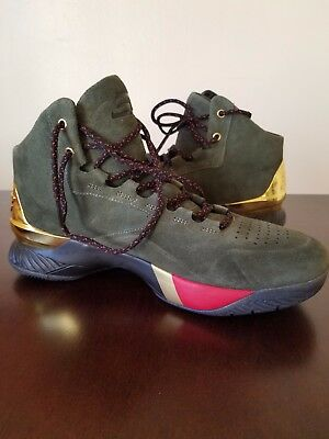 342d073400c4 Under Armour Steph Curry SC 1 Lux Downtown Green Metallic Gold 10.5 1296617  330