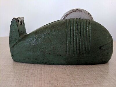 Art Deco Cast Iron Original Tape Dispenser 1930S 1940S Retro Vintage Antique