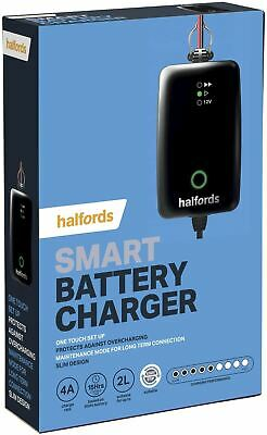 Halfords Car Battery Smart Charger For 12V Vehicles Up To 2.0L Start Stop
