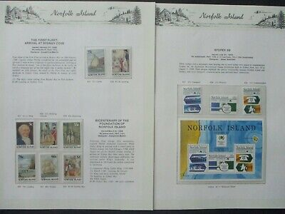 ESTATE: Norfolk Island Collection on Pages- Must Have!!Excellent Item! (p1024)