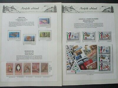 ESTATE: Norfolk Island Collection on Pages- Must Have!!Excellent Item! (p1026)