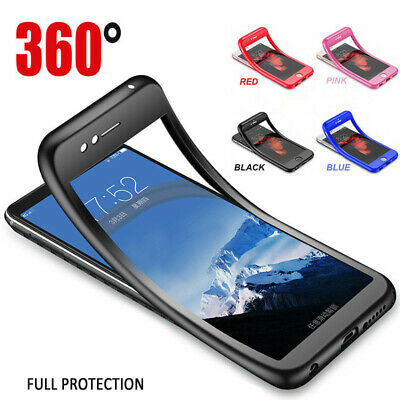 Luxury Soft TPU Silicone 360 Full Cover Case Samsung Galaxy S8 S9 S10 Plus A7 A9